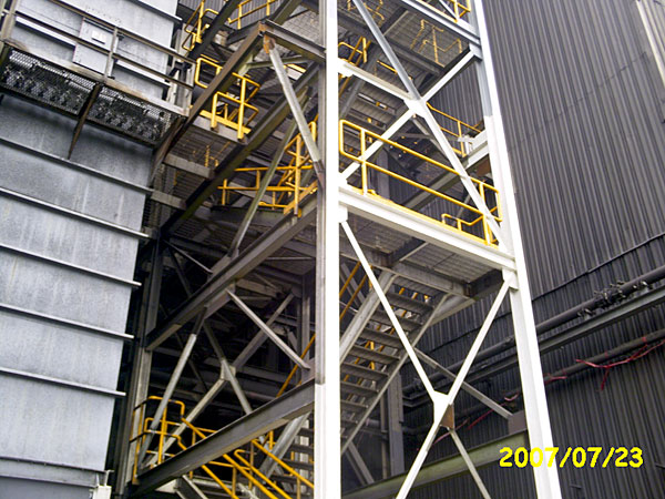 Stairs railings gray welding fabrication services for Stair tower